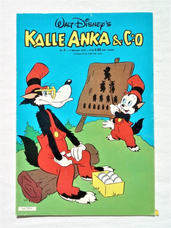 Kalle Anka&Co nr5 1978 mycket bra skick,adressetikett baksida.
