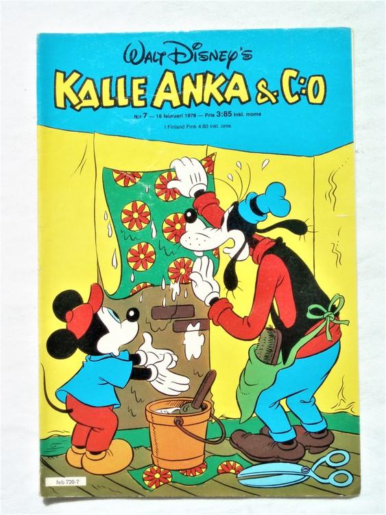 Kalle Anka&Co nr7 1978 mycket bra skick,adressetikett baksida.