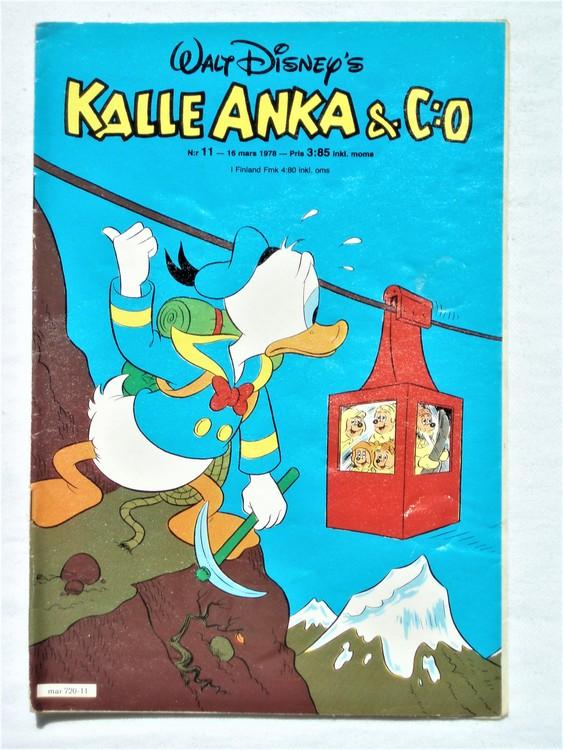 Kalle Anka&Co nr11 1978 mycket bra skick,adressetikett baksida.