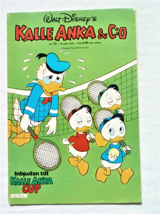 Kalle Anka&Co nr13 1978 mycket bra skick,adressetikett baksida.