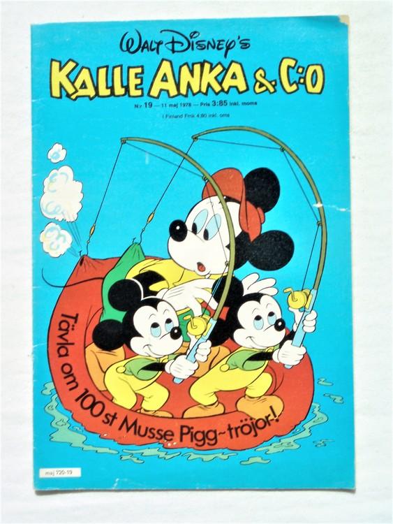 Kalle Anka&Co nr19 1978 mycket bra skick,adressetikett baksida.