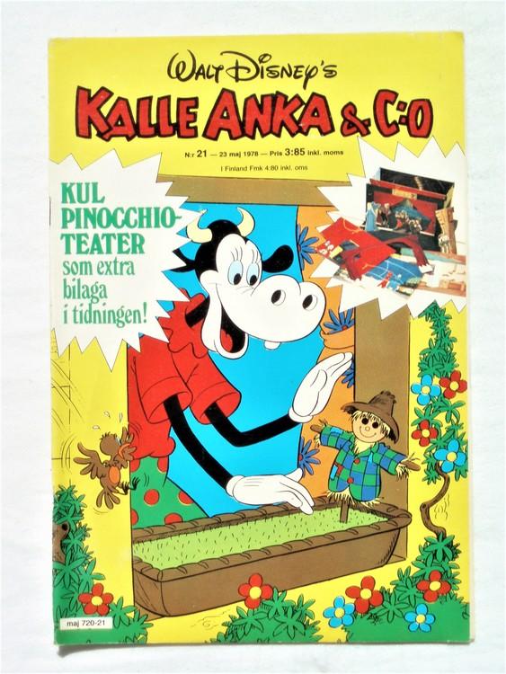 Kalle Anka&Co nr21 1978 mycket bra skick,adressetikett baksida.