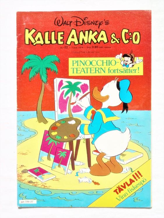 Kalle Anka&Co nr22 1978 mycket bra skick,adressetikett baksida.
