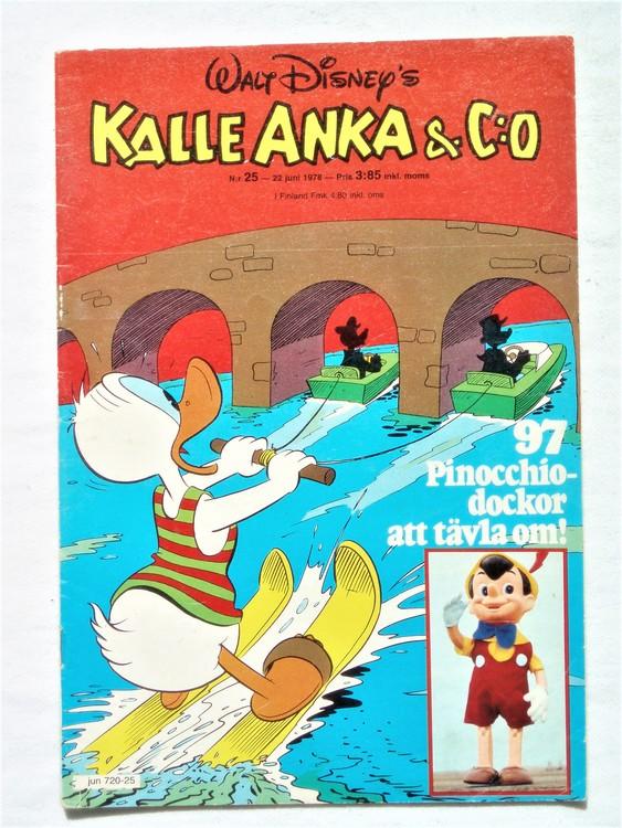 Kalle Anka&Co nr25 1978 mycket bra skick,adressetikett baksida.