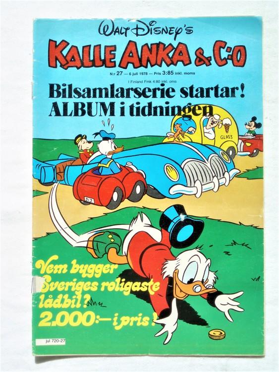 Kalle Anka&Co nr27 1978 mycket bra skick,adresstryck baksida.