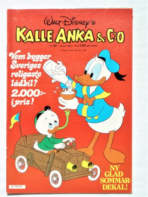 Kalle Anka&Co nr29 1978 mycket bra skick,adresstryck baksida.