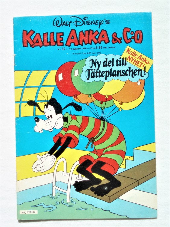 Kalle Anka&Co nr32 1978 mycket bra skick,adresstryck baksida.