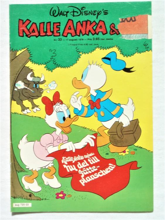 Kalle Anka&Co nr33 1978 mycket bra skick,adresstryck baksida.