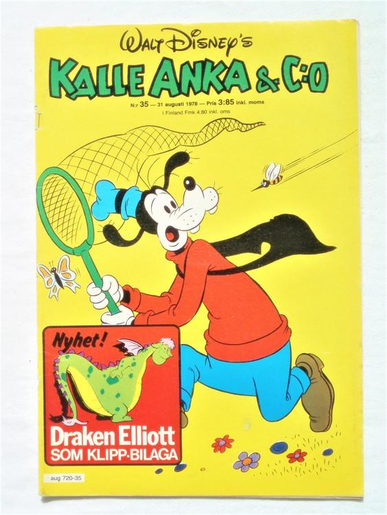 Kalle Anka&Co nr35 1978 mycket bra skick,adresstryck baksida.
