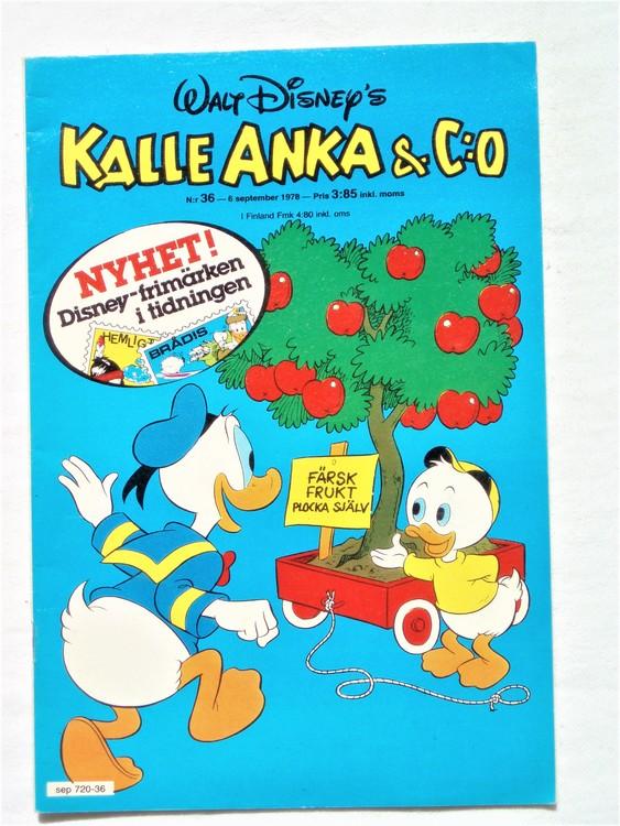 Kalle Anka&Co nr36 1978 mycket bra skick,adresstryck baksida.