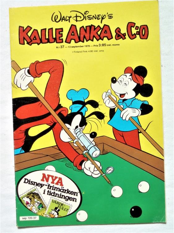 Kalle Anka&Co nr37 1978 mycket bra skick,adresstryck baksida.