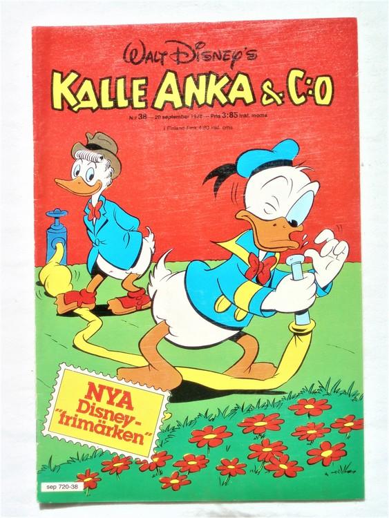 Kalle Anka&Co nr38 1978 mycket bra skick,adresstryck baksida.