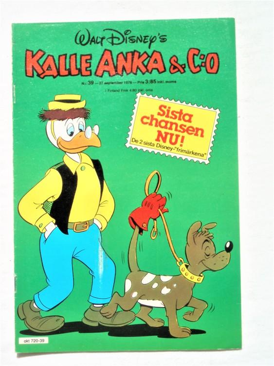 Kalle Anka&Co nr39 1978 mycket bra skick,adresstryck baksida.