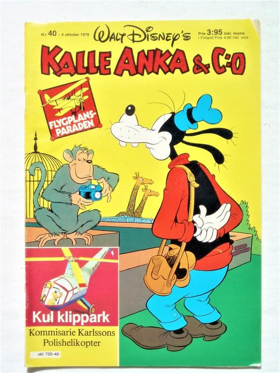 Kalle Anka&Co nr40 1978 mycket bra skick,adresstryck baksida.