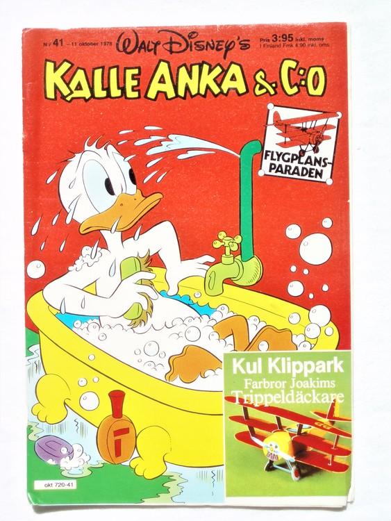 Kalle Anka&Co nr41 1978 mycket bra skick,adresstryck baksida.