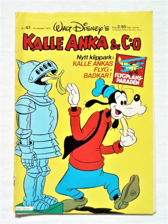 Kalle Anka&Co nr43 1978 mycket bra skick,adresstryck baksida.