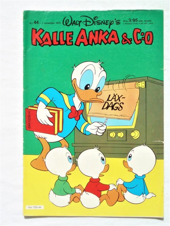 Kalle Anka&Co nr44 1978 mycket bra skick,adresstryck baksida.