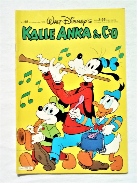 Kalle Anka&Co nr45 1978 mycket bra skick,adresstryck baksida.