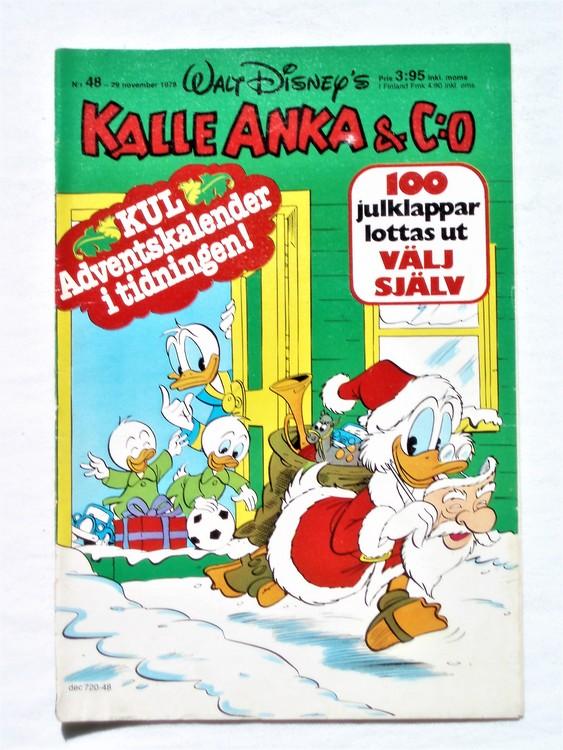 Kalle Anka&Co nr48 1978 mycket bra skick,adresstryck baksida.