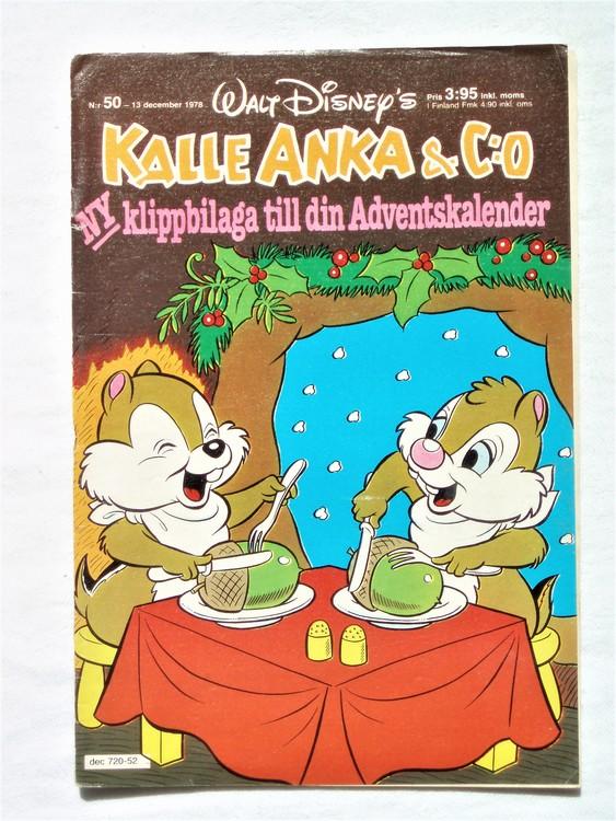 Kalle Anka&Co nr50 1978 mycket bra skick,adresstryck baksida.