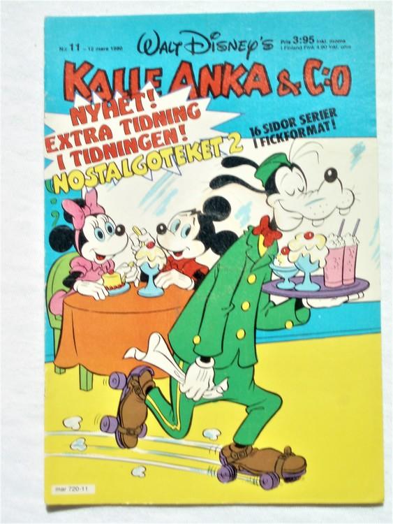 Kalle Anka&Co nr11,1980 mycket bra skick,ryggen sliten,lite småskador finns.