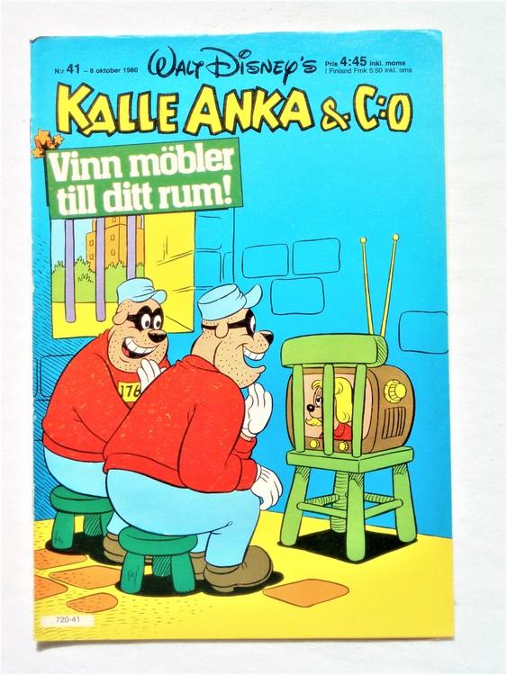 Kalle Anka&Co nr41,1980 mycket bra skick,ryggen sliten,lite småskador finns