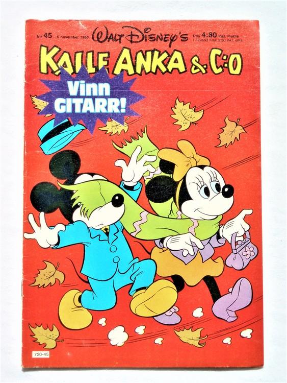 Kalle Anka&Co nr45,1980 mycket bra skick,ryggen sliten,lite småskador finns