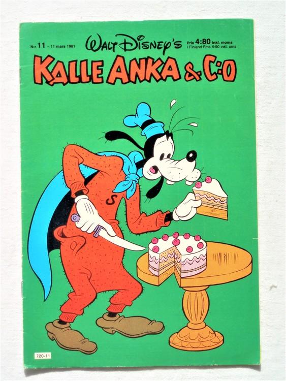 Kalle Anka&Co nr11,1981 bättre skick,lite småskador finns.