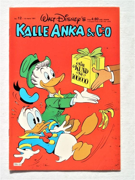 Kalle Anka&Co nr12,1981 bättre skick,lite småskador finns.