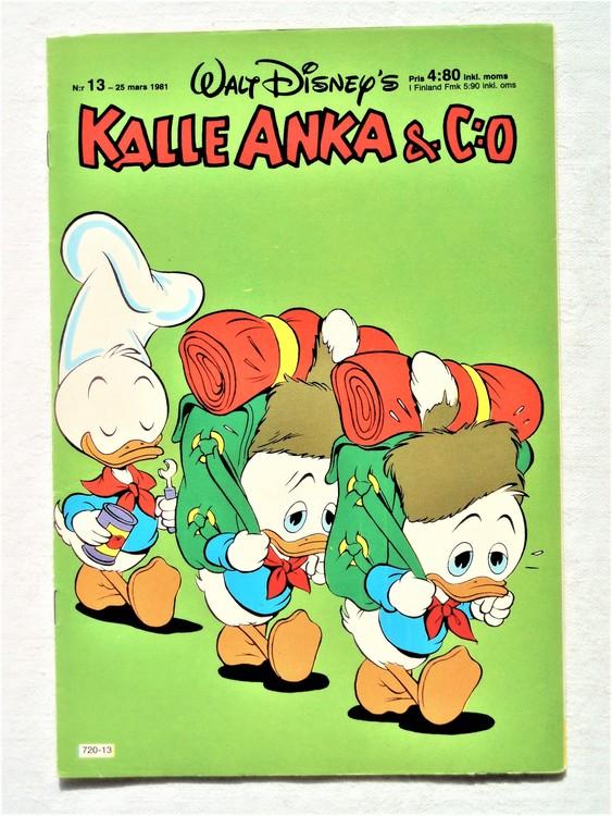 Kalle Anka&Co nr13,1981 bättre skick,lite småskador finns.