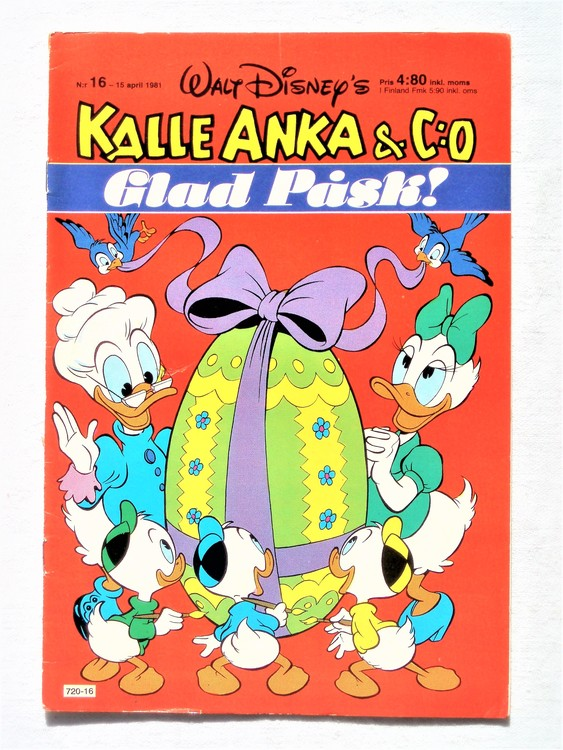 Kalle Anka&Co nr16,1981 bättre skick,lite småskador finns.