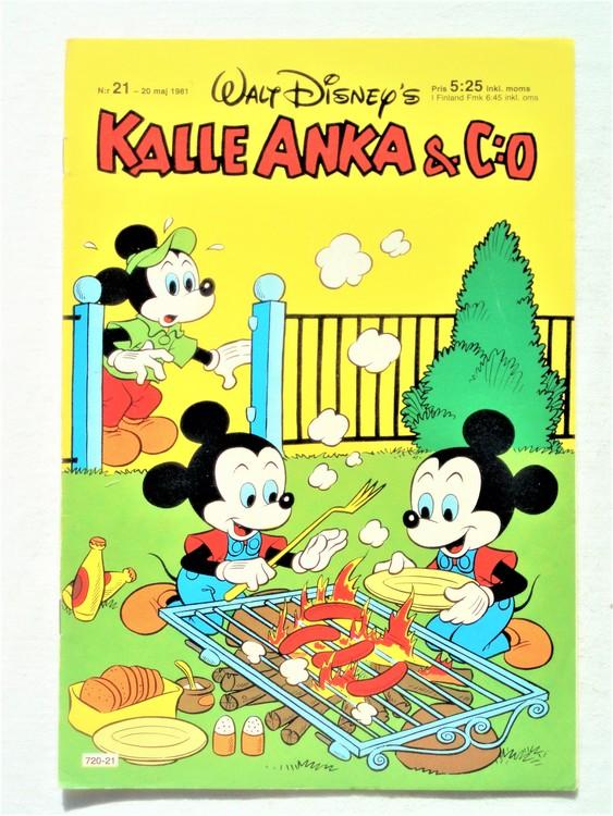 Kalle Anka&Co nr21,1981 bättre skick,lite småskador finns.