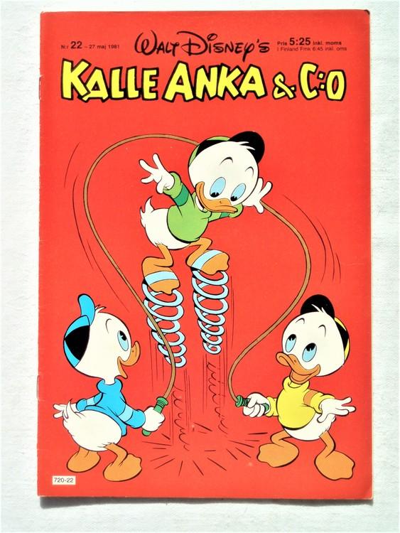 Kalle Anka&Co nr22,1981 bättre skick,lite småskador finns.