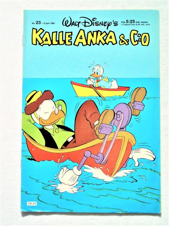 Kalle Anka&Co nr23,1981 bättre skick,lite småskador finns.
