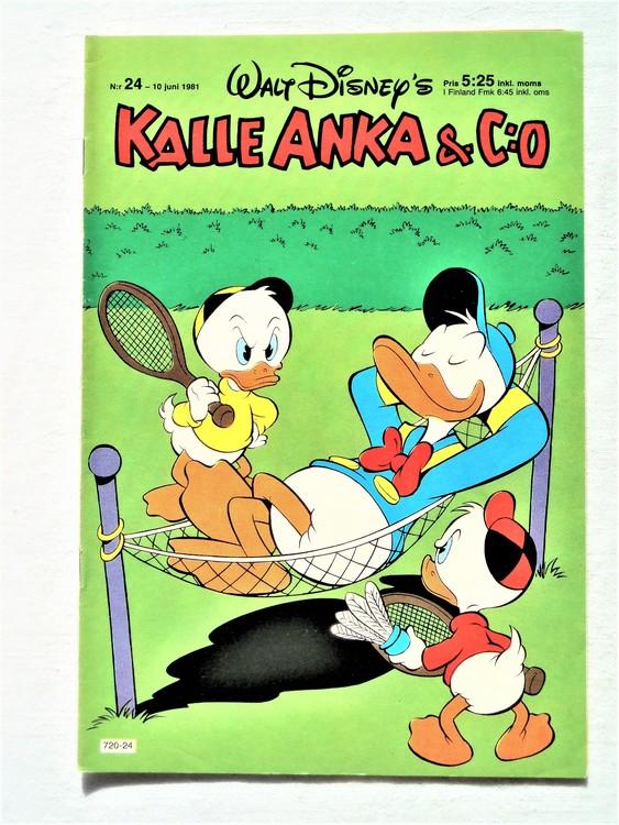 Kalle Anka&Co nr24,1981 bättre skick,lite småskador finns.