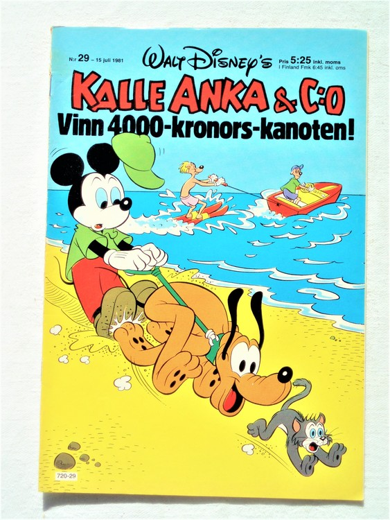 Kalle Anka&Co nr29,1981 bättre skick,lite småskador finns.