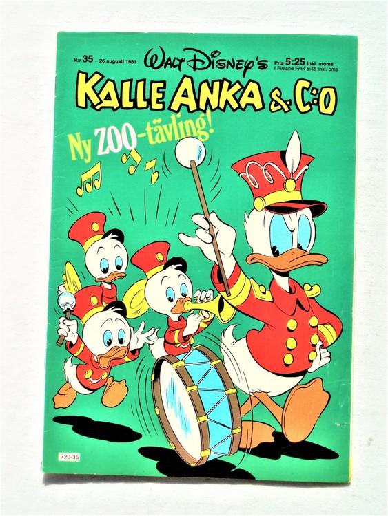 Kalle Anka&Co nr35,1981 bättre skick,lite småskador finns.