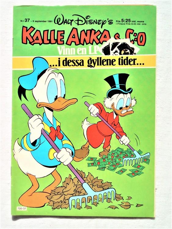 Kalle Anka&Co nr37,1981 bättre skick,lite småskador finns.