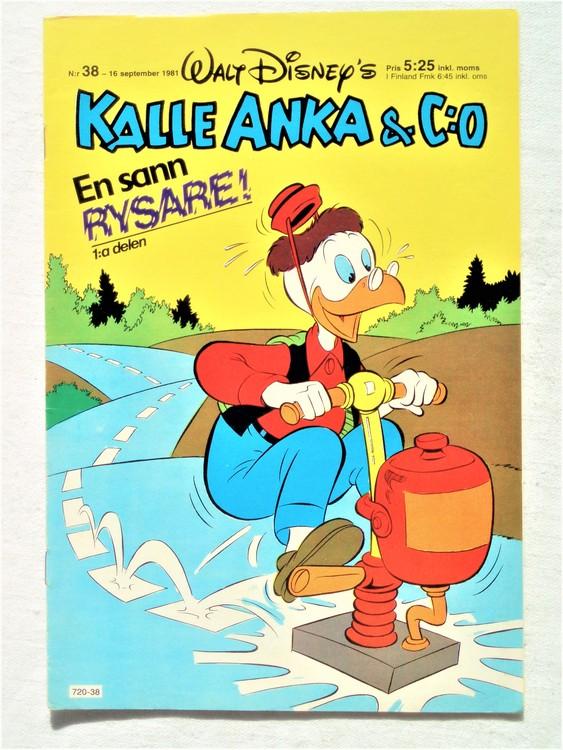 Kalle Anka&Co nr38,1981 bättre skick,lite småskador finns.