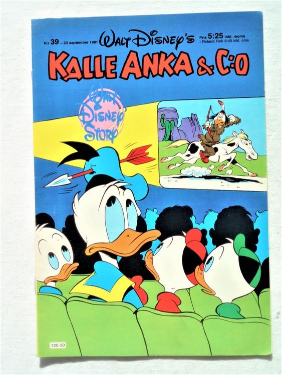 Kalle Anka&Co nr39,1981 bättre skick,lite småskador finns.