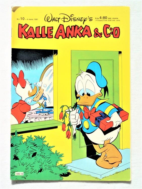 Kalle Anka&Co nr10,1981 bättre skick,lite småskador finns.