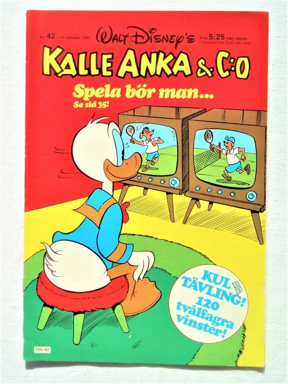 Kalle Anka&Co nr42,1981 bra skick,lite små skavanker finns.