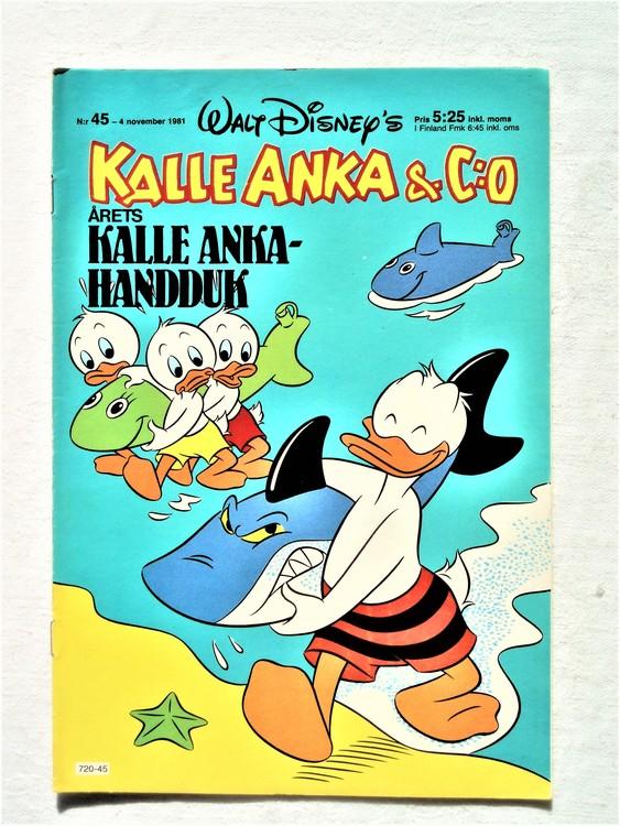 Kalle Anka&Co nr45,1981 bra skick,lite små skavanker finns.