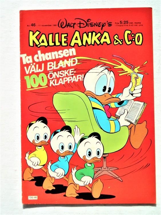 Kalle Anka&Co nr46,1981 bra skick,lite små skavanker finns.