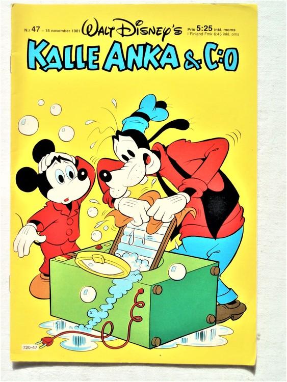 Kalle Anka&Co nr47,1981 bra skick,lite små skavanker finns.
