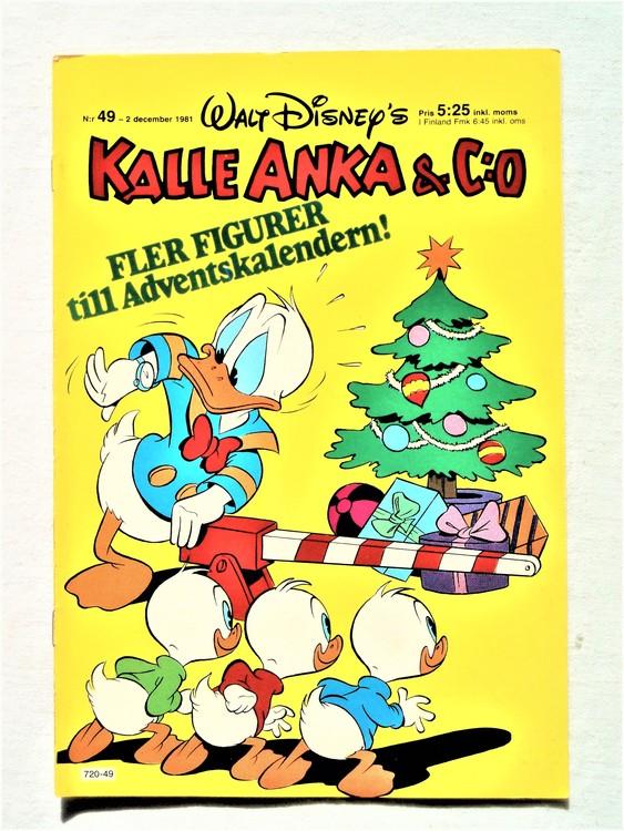 Kalle Anka&Co nr49,1981 bra skick,lite små skavanker finns.