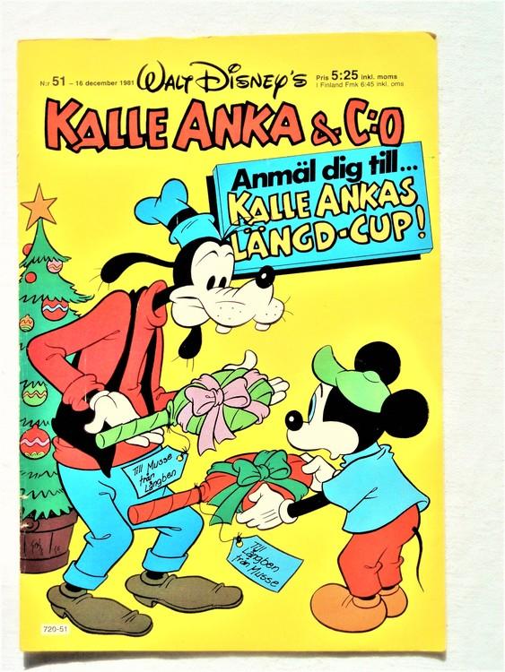Kalle Anka&Co nr51, 1981 bra skick,lite små skavanker finns.