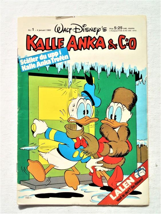 Kalle Anka&Co nr1, 1982 bra skick,lite små skavanker finns.