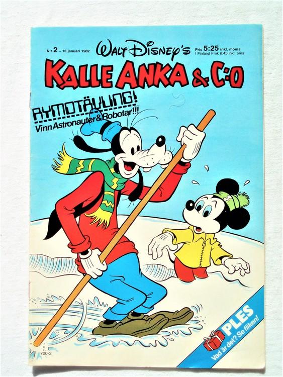 Kalle Anka&Co nr2 1982 bra skick,lite små skavanker finns.