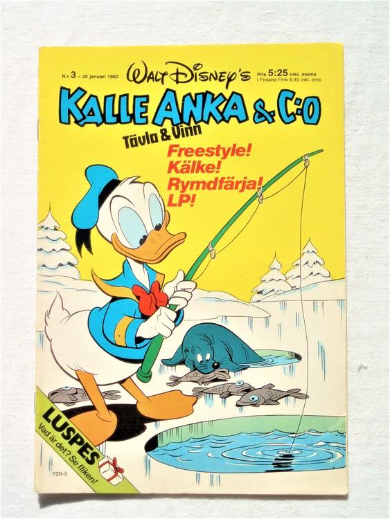 Kalle Anka&Co nr3 1982 bra skick,lite små skavanker finns.